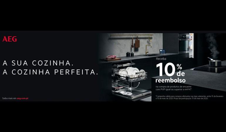 Campanha 10% Reembolso em produtos AEG de encastre